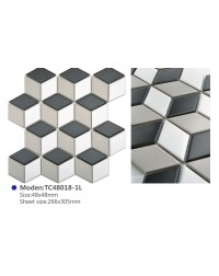 3D Effect Ceramic Diamond Mosaic Tile