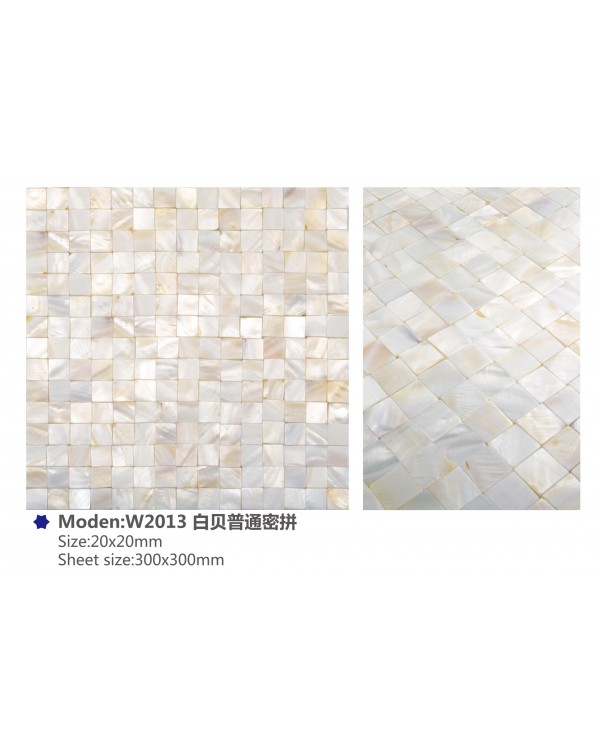 MOP Natural white (jointless) – 20x20mm chip –...