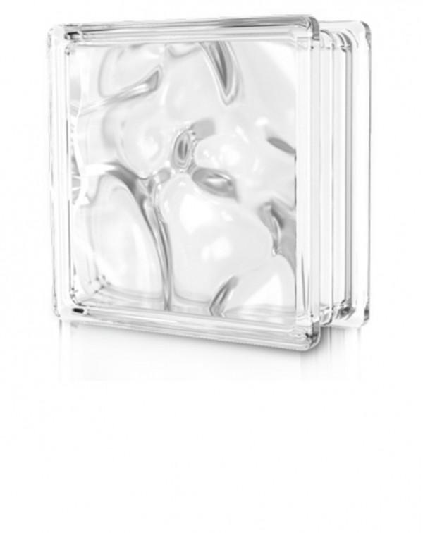 Glass block square - Cloudy